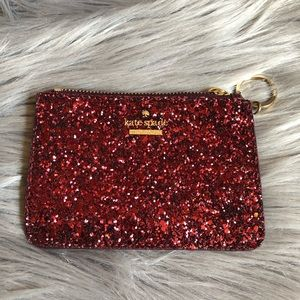 Kate Spade Card Holder with Key Ring Burgundy